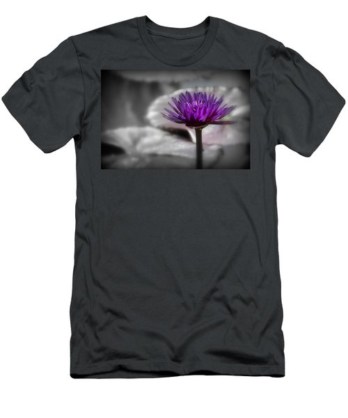 Purple Pond Lily Men's T-Shirt (Athletic Fit)