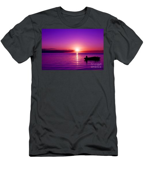 Men's T-Shirt (Athletic Fit) featuring the photograph Purple Sunrise by Yew Kwang