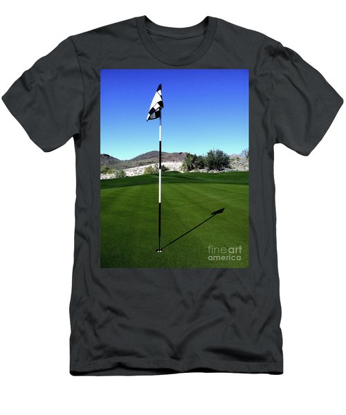 Putting Green And Flag On Golf Course Men's T-Shirt (Athletic Fit)
