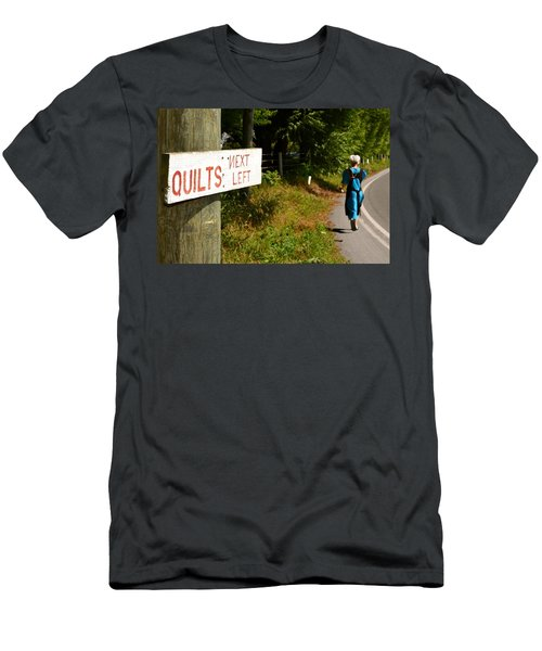 Quilts Next Left Men's T-Shirt (Athletic Fit)