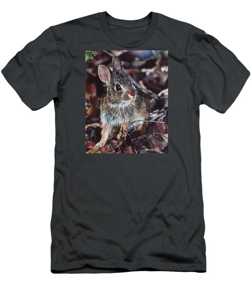 Rabbit In The Woods Men's T-Shirt (Athletic Fit)