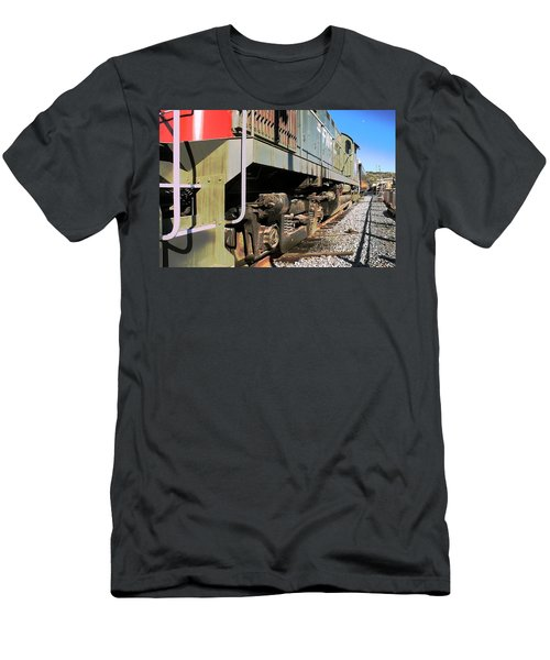 Men's T-Shirt (Slim Fit) featuring the photograph Rail Truck by Michael Gordon
