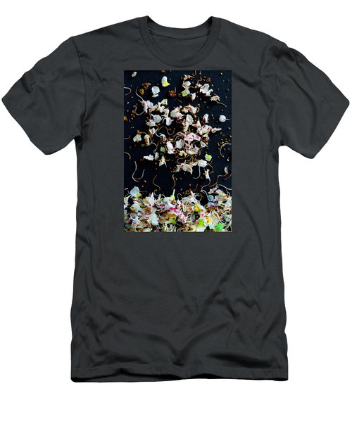 Rain Of Petals Men's T-Shirt (Slim Fit) by Edgar Laureano