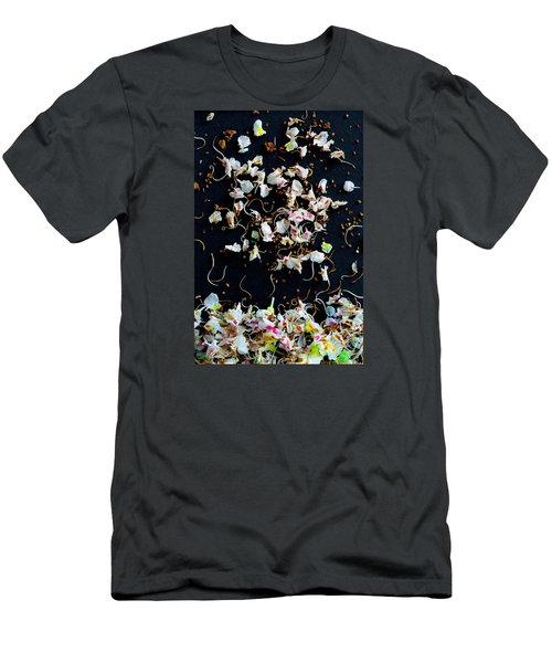 Men's T-Shirt (Slim Fit) featuring the photograph Rain Of Petals by Edgar Laureano