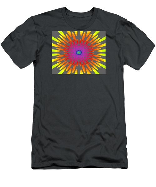 Rainbow Daisy Mandala  C2014  Men's T-Shirt (Slim Fit) by Paul Ashby
