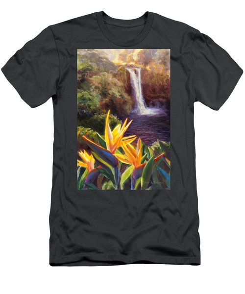 Rainbow Falls Big Island Hawaii Waterfall  Men's T-Shirt (Athletic Fit)