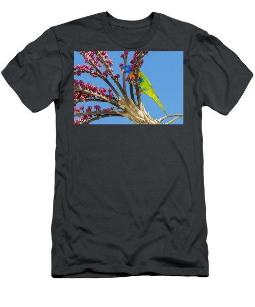 Rainbow Lorikeet In Queensland Umbrella Men's T-Shirt (Athletic Fit)