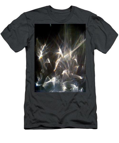 Men's T-Shirt (Slim Fit) featuring the photograph Rainbow Pieces by Leena Pekkalainen