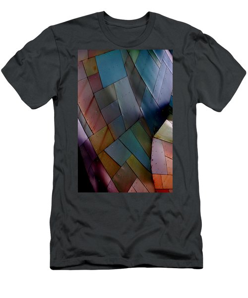 Rainbow Shingles Men's T-Shirt (Athletic Fit)