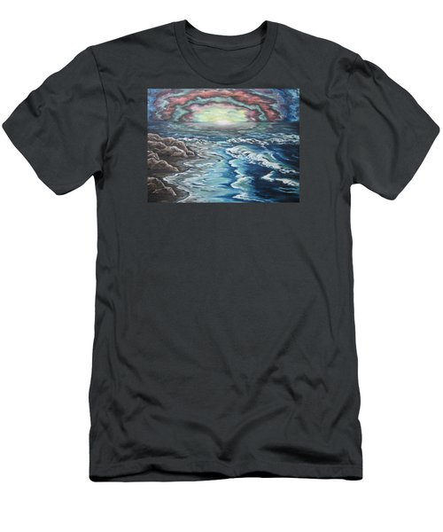 Rainbow Skies Men's T-Shirt (Slim Fit) by Cheryl Pettigrew