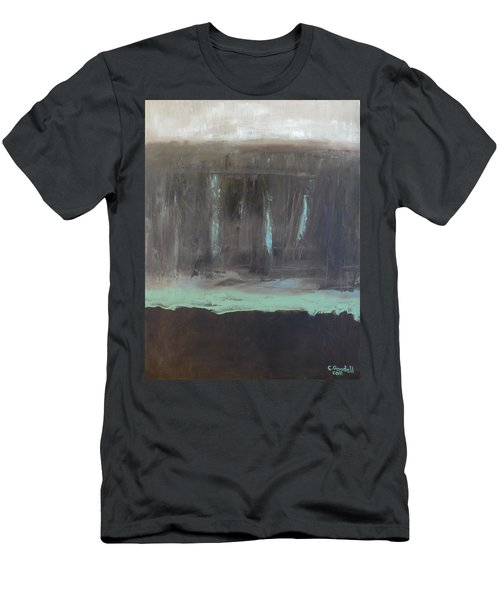Rainy Day Men's T-Shirt (Slim Fit) by Claudia Goodell