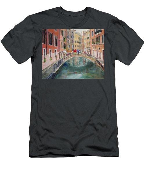 Rainy Day In Venice Men's T-Shirt (Slim Fit) by Harriett Masterson