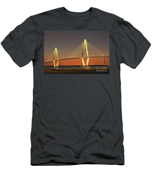 Ravenel Bridge At Dusk Men's T-Shirt (Athletic Fit)