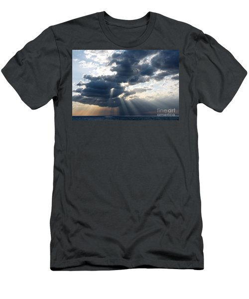 Rays And Clouds Men's T-Shirt (Athletic Fit)