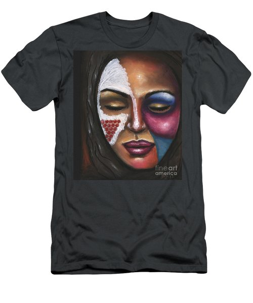 Men's T-Shirt (Slim Fit) featuring the painting Reaching Deep Within by Alga Washington