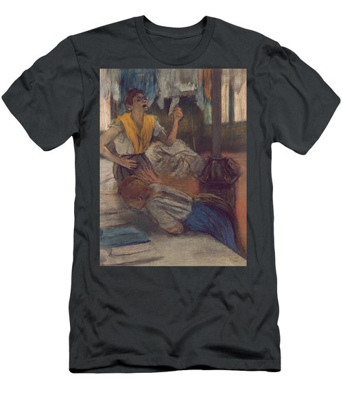 Reading A Letter Men's T-Shirt (Athletic Fit)
