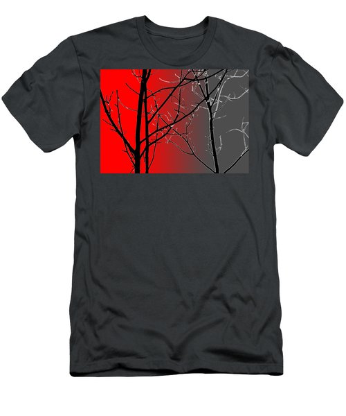 Red And Gray Men's T-Shirt (Athletic Fit)
