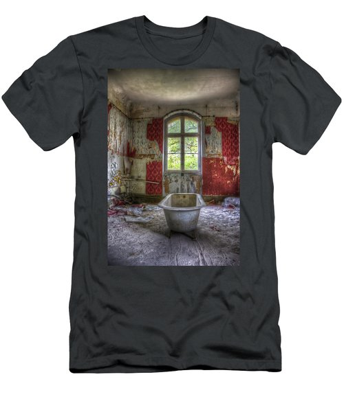 Red Bathroom Men's T-Shirt (Athletic Fit)