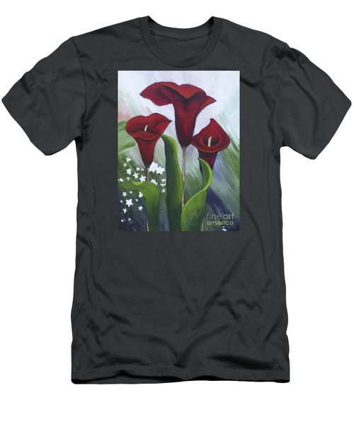 Red Calla Lilies Men's T-Shirt (Athletic Fit)