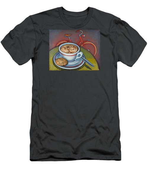 Red Dutch Bicycle With Cappuccino And Amaretti Men's T-Shirt (Slim Fit) by Mark Jones