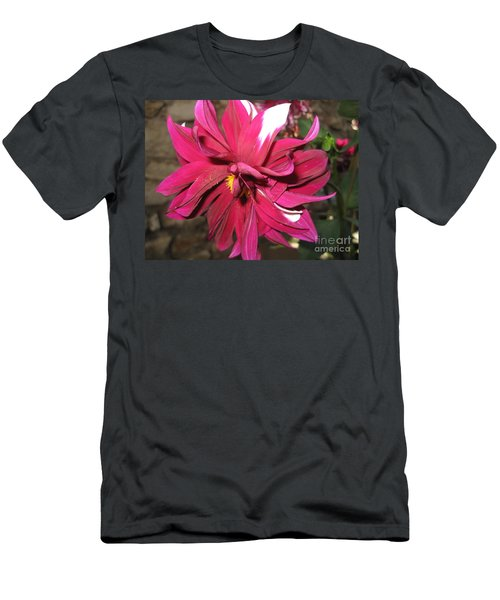 Red Flower In Bloom Men's T-Shirt (Slim Fit) by HEVi FineArt