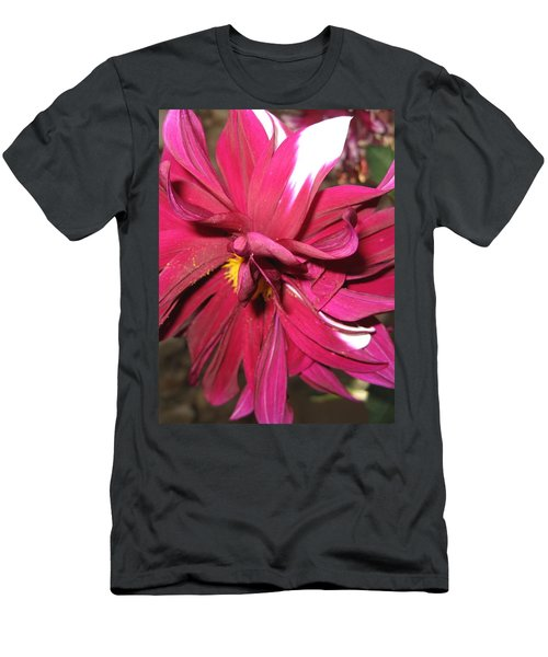Red Flower In Bloom Men's T-Shirt (Athletic Fit)