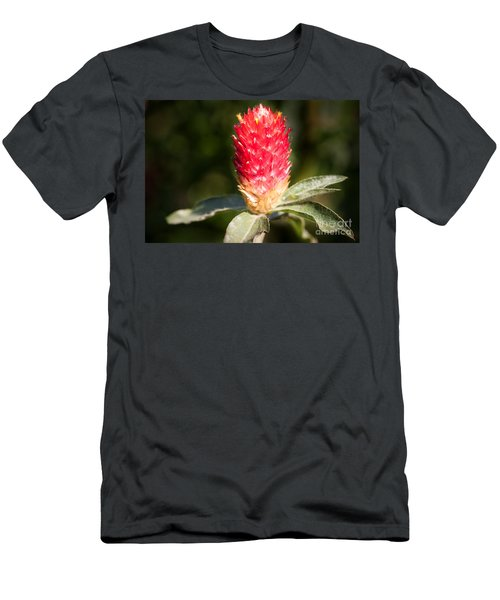 Men's T-Shirt (Athletic Fit) featuring the photograph Red Flower by John Wadleigh