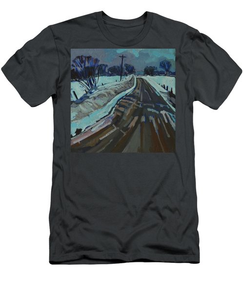 Red Horse Road Men's T-Shirt (Slim Fit) by Phil Chadwick