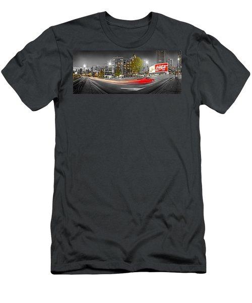 Red Lights Sydney Nights Men's T-Shirt (Slim Fit) by Az Jackson