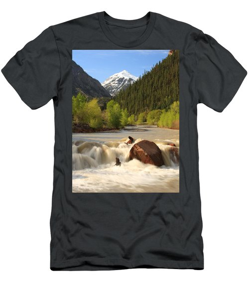 Red Mountain Snowmelt Men's T-Shirt (Athletic Fit)