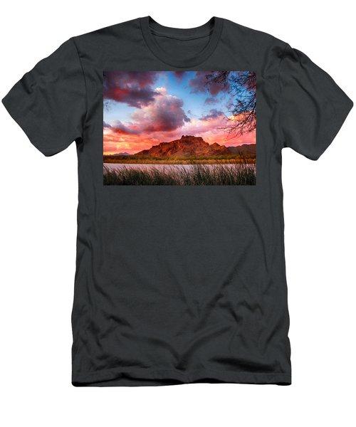Red Mountain Sunset Men's T-Shirt (Slim Fit) by John Haldane