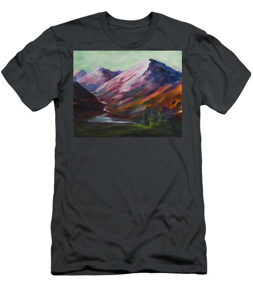 Red Mountain Surreal Mountain Lanscape Men's T-Shirt (Athletic Fit)