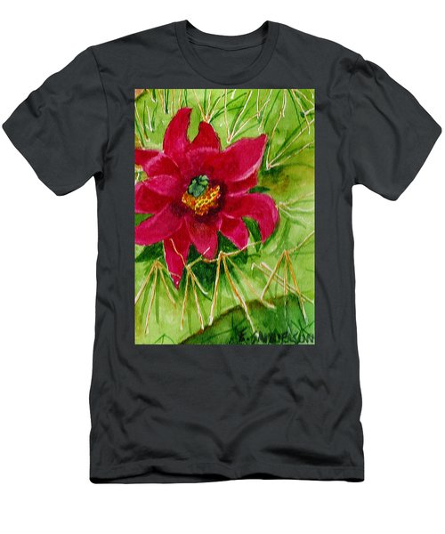 Red Prickly Pear Men's T-Shirt (Athletic Fit)