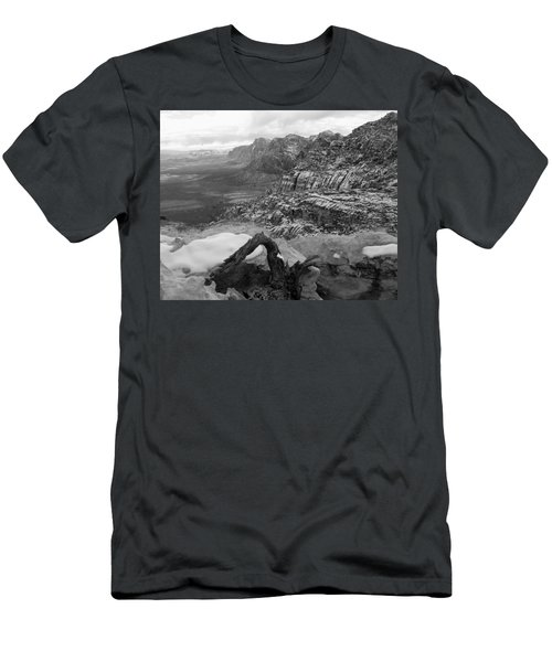 Men's T-Shirt (Slim Fit) featuring the photograph Red Rock Winter by Alan Socolik