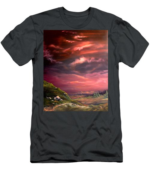 Red Sky At Night Men's T-Shirt (Slim Fit) by Jean Walker