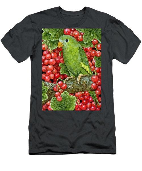 Redcurrant Parakeet Men's T-Shirt (Athletic Fit)