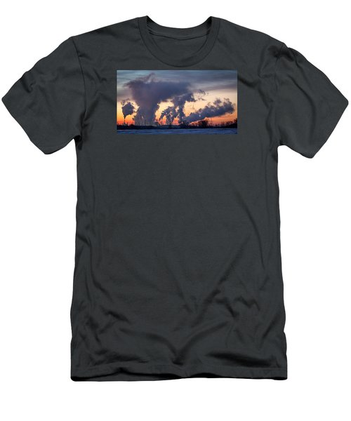 Men's T-Shirt (Slim Fit) featuring the photograph Flint Hills Resources Pine Bend Refinery by Patti Deters