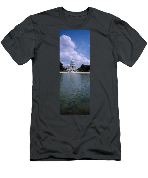 Reflecting Pool With A Government Men's T-Shirt (Slim Fit) by Panoramic Images