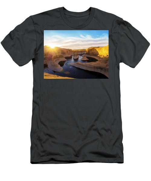 Men's T-Shirt (Athletic Fit) featuring the photograph Reflection Canyon by Dustin  LeFevre