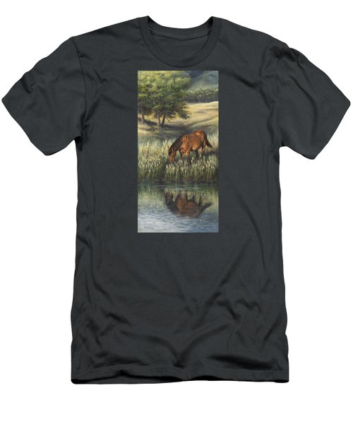 Men's T-Shirt (Slim Fit) featuring the painting Reflections by Kim Lockman