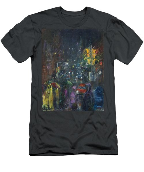 Reflections Of A Rainy Night Men's T-Shirt (Athletic Fit)
