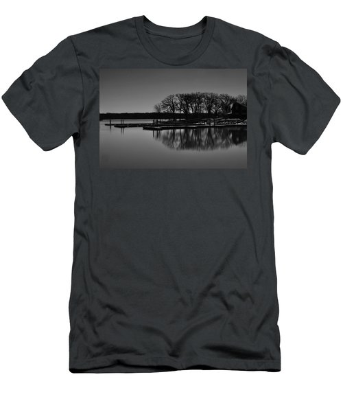 Reflections Of Water Men's T-Shirt (Slim Fit) by Miguel Winterpacht