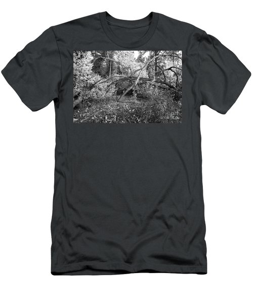 Men's T-Shirt (Slim Fit) featuring the photograph Tropical Shade by Roselynne Broussard