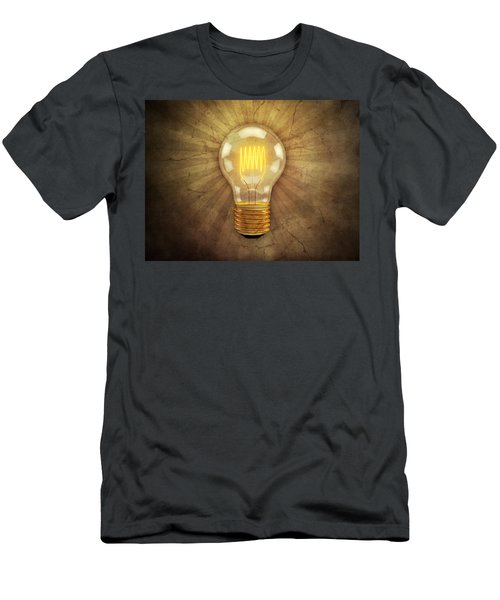 Retro Light Bulb Men's T-Shirt (Athletic Fit)