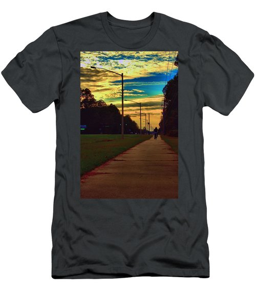 Men's T-Shirt (Athletic Fit) featuring the photograph Riding Into The Sunset by Tyson Kinnison