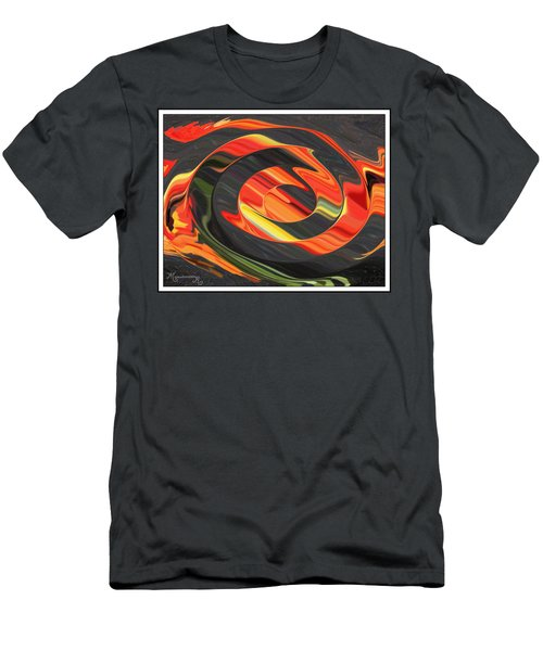 Men's T-Shirt (Slim Fit) featuring the digital art Ring Of Fire by Mariarosa Rockefeller