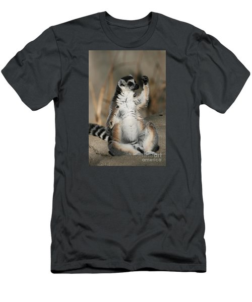Men's T-Shirt (Slim Fit) featuring the photograph Ring-tailed Lemur by Judy Whitton