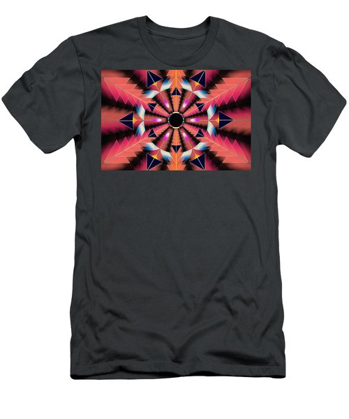 Men's T-Shirt (Slim Fit) featuring the drawing Rippled Source Of Light by Derek Gedney