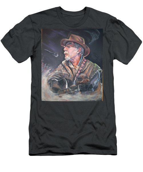 Men's T-Shirt (Slim Fit) featuring the mixed media Rising Out Of The Sands Of Time by Peter Suhocke
