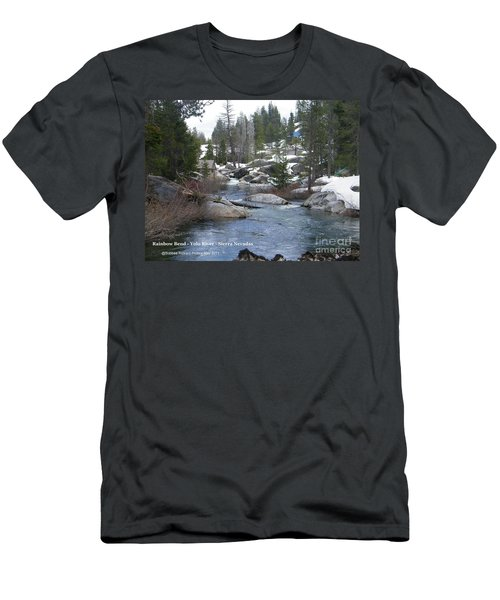 Men's T-Shirt (Slim Fit) featuring the photograph River Bend  by Bobbee Rickard